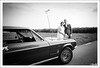wedding with Ford Mustang (GuitarGeert) Tags: nikon d700 tamron 2875 blackandwhite wedding huwelijk bruiloft ford mustang niksilverefexpro