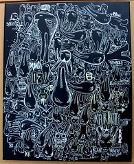 Aleister black (mc1984) Tags: mc1984 canvas aleister236 black white rabbit streetart multiple collection art