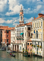 Still here... (JDWCurtis) Tags: venice gondola gondoleer tourism tourists tourist ital italian italianstreet canal water waterway waterfront sky cloud clouds facade buildings europe european venezia venetian