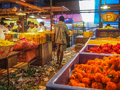 LR-011 (hunbille) Tags: india mumbai birgittemumbai32015lr dadar phool galli phoolgalli flower market bazaar bombay