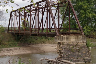 Half a bridge  over the Spoon River