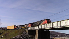 CN 2337 crossing the Kelly Rapids (MaineTrainChaser) Tags: cn trains train west westbound quebec new brunswick 306