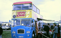 Slide 107-36 (Steve Guess) Tags: epsom surrey england gb uk bus open top topper topless southdown leyland titan northern counties ncme ten pin bowling hcd366e