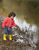 Life and Wonder (devonpaul) Tags: life wonder child river reflection stones otter devon ripples water yellow wellies home knitted jumper