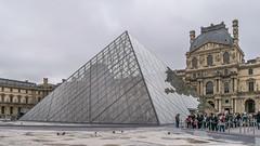 Louvre Pyramid, Paris (Aliy) Tags: pyramid louvre palaisdulouvre artgallery gallery museum artmuseum palace paris landmark