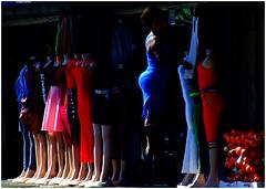 Opening Time (Finepixtrix) Tags: brixton johannesburg highstreet explored dress blue clothingshop africa legs mannequin street colour