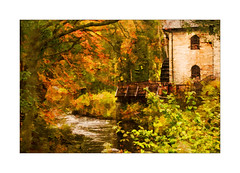 St Fillans Mill (williamwalton001) Tags: pentaxart texture trees timber borders building water woodlands weather scotland artwork greatphotographers trolled legacy