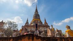 Ayutthaya (Flutechill) Tags: buddhism thailand buddha pagoda asia architecture wat stupa templebuilding religion cultures famousplace spirituality ayuthaya history ancient monastery statue ayutthaya