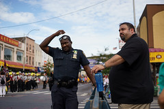 Parade (dtanist) Tags: nyc newyork newyorkcity new york city sony a7 contax zeiss carlzeiss carl planar 45mm brooklyn bensonhurst 18th avenue columbus day parade police policemen policeman officers officer nypd cop