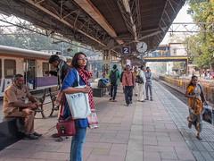 Mumbai 2015 (hunbille) Tags: india mumbai bombay birgittemumbai2lr subway commute commuting train metro station