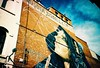 Fitzroy Street Art (Daniel R Thompson) Tags: lca lomolca 35mm 35mmfilm amateur lomo lomography melbourne lomographymelbourne graffiti streetart spraypaint film daytime city experimental crossprocessed fitzroy brunswickstreet mural art filmcamera birdwoman womensface face afga iso 100 agfa ct precisa