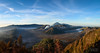 Indonesia | Mt. Bromo Panorama (Nicholas Olesen Photography) Tags: indonesia java horizontal panorama mt bromo volcano landscape nature view vista mountains trees viewpoint morning sunrise travel nikon d7100 clouds sky national park