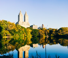 Morning Reflections (RomanK Photography) Tags: architecture autumn centralpark landscape manhattan nyc newyorkcity fall nature sonyalpha trees water