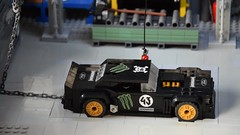 Gymkhana 7 (_primozm) Tags: primozm lego gymkhana 7 seven hoonicorn starting scene layout diorama mustang ford speed champions scale power functions pf burning tires tyres chained video