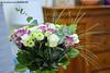 Bouquet de fleurs d'automne (Guillaume7762) Tags: rose chrysanthème eucalyptus bouquet fleurs couleurs bicolore flower blumenstraus ramo de flores 一束鲜花 花の花束 fiori باقة ورد plaisir occasion blanc white vert green violet