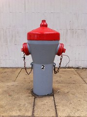 Fire Hydrant (sander_sloots) Tags: fire hydrant schiedam central station brandkraan centrum plug red gray rood grijs