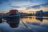 Twilight at the Shore, Leith (MilesGrayPhotography (AnimalsBeforeHumans)) Tags: architecture auldreekie autumn a7ii 1635 fe1635mm sonyfe1635mmf4zaoss 10stopper britain bridge boats city cityscape dusk edinburgh europe evening fe f4 glow historic harbour iconic ilce7m2 landscape lens longexposure leith le nd nighfall nd1000 nightscape nd30 outdoors oss photography photo tranquil reflections river scotland sky skyline scenic sunset sonya7ii sony sonyflickraward shore shadows ship town twilight uk unitedkingdom victoriaswingbridge waterscape wide waterofleith wideangle wideanglelens zeiss