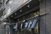 暖簾 (kasa51) Tags: noren sign cheap restaurant tavern izakaya wind kanji kawasaki japan 暖簾 のれん 大衆食堂 大衆酒場 風