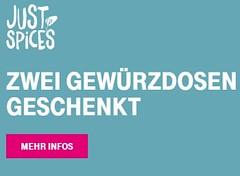"""Gratis: Zwei Gewürzdosen von """"Just Spices"""" für Telekom-Kunden geschenkt (Discountfan.de) Tags: gewürze gratis"""