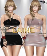 [ADRIS KING] LAINE (Adris King) Tags: clothing woman skirt top short slink maitreya mesh tmp hud king beleza ômega gift discount free beautiful girls new release