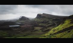 On the Edge (der_peste) Tags: scotland quiraing isleofskye trotternishridge flodigarry sky skye hills landscape rough unitedkingdom mountain lake hike view