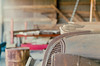 untitled-105-Edit (dvlmnkillatron) Tags: olympus om2n selfdeveloped 35mm analog film symbol emblem carhood rust farm abandoned