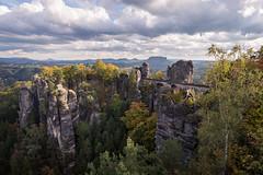 Bastei (phlickrron) Tags: bastei elbe gebirge elbsandstein brücke landscape outdoors hiking sachsen clouds