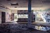 slaughterhouse I (polomar) Tags: camera fuji fujifilm xe3 lens xf18mm f2 r asph common flickr polomar subject schlachthof abandones light licht verlassen slaughterhouse schlachthaus graffiti color tags ort bonn germany deutschland