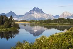 Oxbow Bend, Grand Teton NP, USA, morning (explored) (birgitmischewski) Tags: oxbowbend grandteton grandtetonnp mountmoran reflection