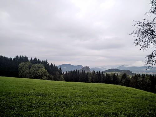 cloudy castle view