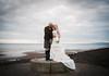We Went To The Beach! (Samantha Nicol Art Photography) Tags: wedding bride groom kilt scottish irvine beach pose samantha nicol art beith scotland dramatic sky photographer gailes bouquet ailsa craig