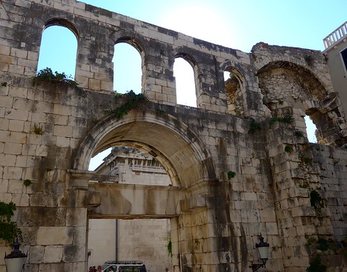 Diocletian palace wall, City Center, Split, Croatia