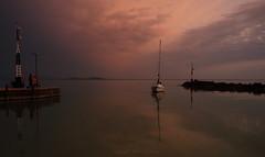 (tozofoto) Tags: europe hungary tozofoto canon lake water waterreflection sky clouds sunset sailboats colors travelling travel holiday balaton