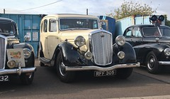 1948 Wolseley visiting Ipswich Transport Museum, 7th. October 2017. (Crewcastrian) Tags: ipswich transport cars ipswichtransportmuseum wolseley