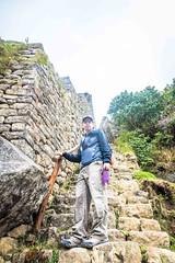 Andrew climbing in Macchu Picchu