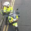 Police Biker - Aerial View (Garibaldi McFlurry) Tags: doubledecker bus metro translink montgomeryroad officer policeofficer boots gloves helmet bikerleathers leathers bike motorbike motorcyclist policebiker biker belfast policeserviceofnorthernireland psni police