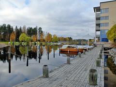 Joensuu (Marjala) - Finland (Sami Niemeläinen (instagram: santtujns)) Tags: joensuu suomi finland marjala syksy fall autumm vene boat marjalankanava