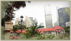 Hong Kong impressions (boeckli) Tags: hongkong sevenstyles mixedmedia city stadt textures texturen texture textur photoshopaction photoborder gebäude buildings highrise building architecture architektur sincity