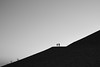 couple on a hill (#ca) Tags: olympus25mmf18 hill couple sunset stones steine hügel em10markii duhamel bergbau mining halde