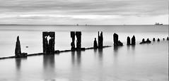 Last Line of Defence (PeskyMesky) Tags: aberdeen aberdeenbeach longexposure le water groyne monochrome blackandwhite bw sea ocean scotland flickr