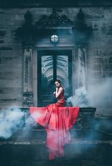 A phoenix, burnt out. (Thomas Oscar Miles) Tags: fineart fashion portraiture red thomasoscarmiles magic phoenix