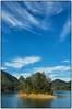 Lake Watauga near Hampton Tennessee (Steve4343) Tags: nikon d70s lake watauga lakewatauga cherokee national forest cherokeenationalforest appalachiantrail appalachian trail yellow blue sky clouds white red orange autumn fall colors steve4343