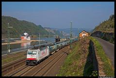 Crossrail 186 904, Kaub 21-04-2017 (Henk Zwoferink) Tags: kaub rheinlandpfalz duitsland de crossrail xrail tts henk zwoferink bombardier traxx ms 186 904 rhein