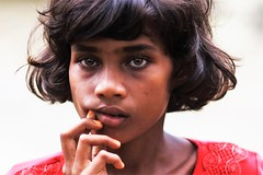 When Hope And Misery Collide (N A Y E E M) Tags: girl beauty rohingya refugee eyes red candid portrait street refugeecamp coxsbazaar bangladesh carwindow