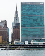 Chrysler Building, United Nations Secretariat Tower and U Thant Island on the East River, New York City (jag9889) Tags: 2017 20171023 architecture artificial bird building buoy buoyant chryslerbuilding cormorant eastriver fluss headquarters house island longislandcity manhattan midtown midtowneast ny nyc nycparks newyork newyorkcity newyorkcitydepartmentofparksrecreation outdoor park publicpark queens river sanctuary skyscraper tiny tree uthant usa unitednations unitedstates unitedstatesofamerica wasser water waterway jag9889