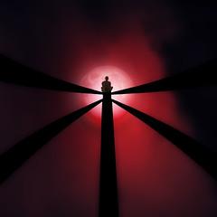 自由精神 (Corinaldesi Roberto) Tags: zen meditation moon sky minimal