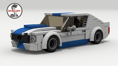 1965 Shelby GT350R (Tom.Netherton1) Tags: 1960s ford mustang muscle pony car cars auto classic vintage 1965 american america lego ldd legos digital designer city povray pov v8 motor engine white background vehicle speed speedster power download dropbox lxf sky road 2018 2000s 2010s 2door fast sport sports coupe shelby gt350