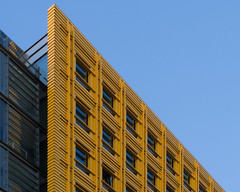 blue and yellow (Cosimo Matteini) Tags: cosimomatteini ep5 olympus pen m43 mft mzuiko60mmf28 london stgiles centralstgiles building architecture renzopiano blueandyellow