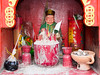 Chinese Buddhist altar (whitworth images) Tags: worship asia offerings southeastasia cameronhighlands altar red malaysia chinese incense ancestor tanahrata superstition buddhist buddhism food pahang shrine