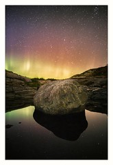 (Frank S. Schwabe) Tags: boulder aurora polaris nightsky long exposure canon 6d klubba kristiansund normøre norge norway water pond reflection satellites plane nightflight tripod nordlys top20aurora